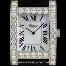 Chopard 18k W/Gold Mother of Pearl Dial Diamond Bezel H Watch...