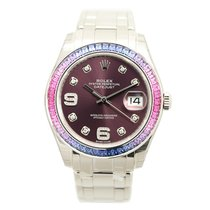 Rolex Lady Oyster Perpetual 18k White Gold Purple Automatic...