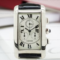 Cartier W2603356 Tank Americaine Chronograph 18K White Gold...