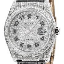 롤렉스 (Rolex) Rolex DateJust 36 White Gold Diamond Set Watch...
