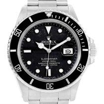 Rolex Submariner Date Stainless Steel Mens Vintage Watch 168000
