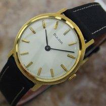 Bulova Gold Plated Manual Wind Mens Classic Dress Watch 1970s...