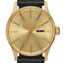 Nixon A105-510 Sentry Leather All Gold Black 42mm 10ATM