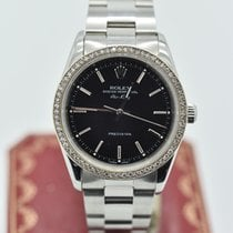 Rolex Air-king 14000m Black   Diamond   Stainless Steel  34mm...