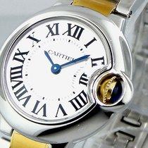 Cartier Ballon Bleu W69007z3 29 Mm Small Steel Gold Quartz...