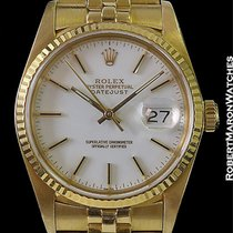 Rolex 16018 Datejust 18k White Dial