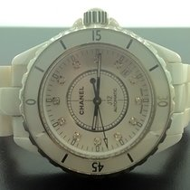 Chanel J12 White Ceramic 38 mm. Diamond Dial Automatic Watch