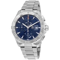 TAG Heuer Aquaracer Automatic Chronograph Blue Dial Stainless...