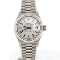 Rolex President Datejust Ladies 18K White Gold Watch 79179