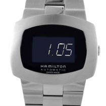 Hamilton Pulsomatic Men's Stainless Steel Automatic LED...