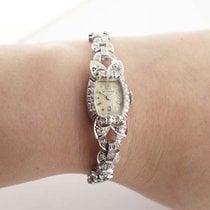 Wittnauer Platinum and Diamond Ladies Cocktail Watch