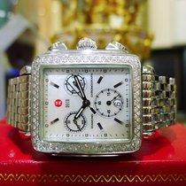 Michele Deco Chronograph Stainless Steel Mop Diamond Quartz...