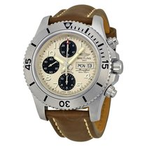 Breitling Superocean Chronograph Automatic Silver Dial Brown...