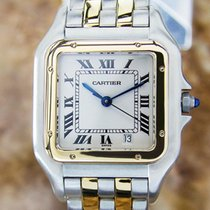 Cartier Panthere 18k Gold And Ss Swiss Luxury Watch L201