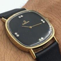 Omega 14k Yellow Gold Diamond Dial 32mm Black  Dial #625 17...