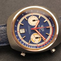 Heuer Montreal vintage chrono blue dial cal. 12 mint conditions