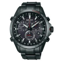 Seiko Astron Solar GPS Black PVD Stainless Steel Men's...
