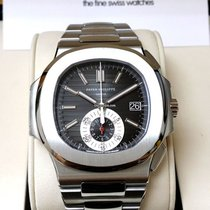 Patek Philippe 5980/1A Steel Nautilus Chronograph Black Dial...