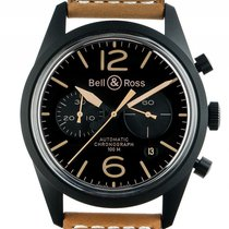 Bell & Ross BR 126 Heritage Stahl PVD Automatik Chronograp...