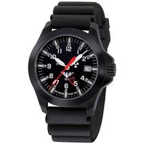 KHS Uhren Herrenuhr  Black Platoon GMT LDR KHS.BPGLDR.DB
