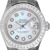 Rolex Ladies Platinum President Watch with Diamonds 179166