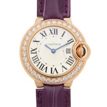 Cartier Ballon Bleu 18 K Rose Gold With Diamonds Silvery White...