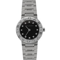 Bulgari Ladies Steel Black Diamond Dial, Ref: BB23SS