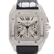 Cartier Santos 100 XL Chronograph - After Set G VS1 Diamonds