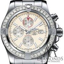 Breitling New Breitling Super Avenger Ii (two) 3.20ct. Diamond...
