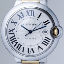 Cartier BALLON BLEU LARGE 42mm AUTOMATIC YG/SS SILVER DIAL...