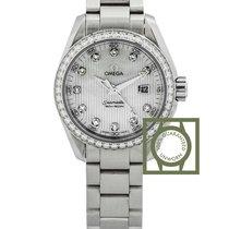 Omega Seamaster Aqua Terra Quartz 30mm Steel Diamonds NEW