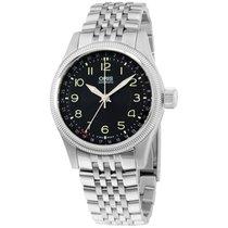 Oris Black Dial Stainless Steel Men's Watch 75476794034mb