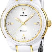 Festina Ceramic Collection F16698/2 Damenarmbanduhr Mit...