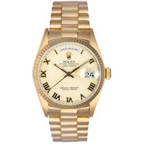 Rolex President Day-Date Men's 18k Yellow Gold Watch 18038...