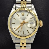 Rolex Date 6917 Jubilee 14k Yellow Gold/ss Silver Sticks Dial...