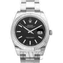 Rolex Datejust 41 Black 18k White Gold/Steel Oyster 41mm - 126334