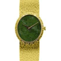 Piaget 18k  Gold Jade Stone Dial Ladies Watch