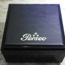 Perseo vintage watch box leather and wooden blu big size