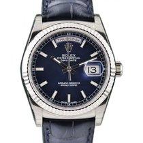 勞力士 (Rolex) Day-Date 36 118139-BLUBL Blue Index Blue Leather...