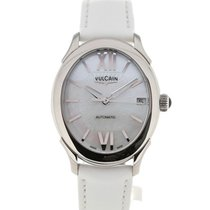 Vulcain First Lady Steel MoP Silver-toned White Strap
