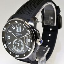 Cartier Calibre Black Steel Mens Diver's Watch Box/Papers NEW...