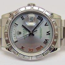 Rolex 118366 - DAY-DATE - Baguette Platinum - B&P - LC100