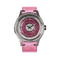DeLaCour Promess Glamour Color Steel Diamond Bezel Pink