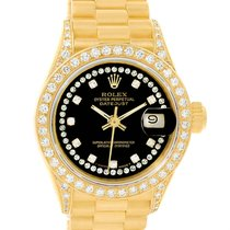 Rolex President Datejust Yellow Gold String Diamond Ladies...