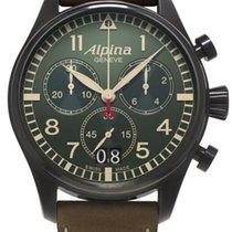Alpina Startimer Pilot Brown Leather Chronoghraph Al-372gr4fbs6