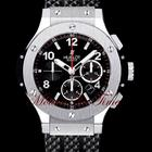 Hublot BIG BANG STAINLESS STEEL - BLACK RUBBER STRAP - 44.5mm