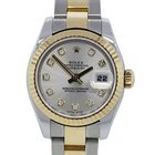 Rolex Datejust 179173 Ladies Two Tone Factory Diamond Dial Watch