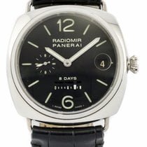 Panerai 8 Day Radiomir PAM00268 - Steel on Strap with Black Dial