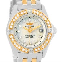 Breitling Windrider Calisto Steel 18k Yellow Gold Diamond...