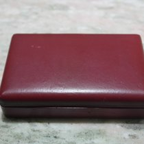 Longines vintage watch box burgundy leather for chrono 30 ch...